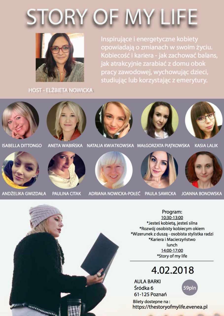 """Spotkanie kobiet """" Story Of My Life """""""